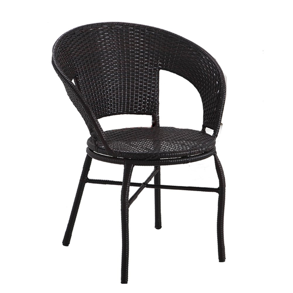 Amazon.com : Dining Chairs-Wicker Chair Single Armrest Chair Woven ...