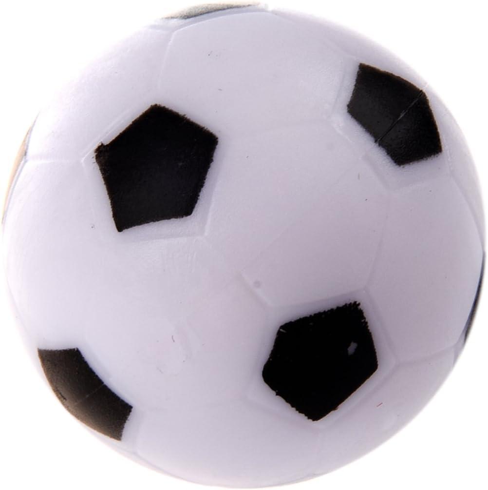 RETYLY Petit Football Baby-Foot en Plastique Dure Balle Table Homo Logue Jeu Jouet Enfant Noir Blanc