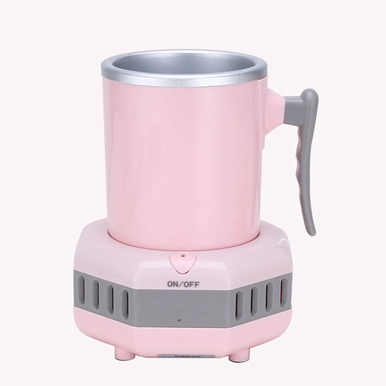AHRIWINK New Portable Countertop Small Ice Cool Maker Machine Fast Mini Smart Beverage Cooler Cup Quick Cool Making Car Ice Machine Home Camp Party for Cola Wine Beer Drinks,Pink