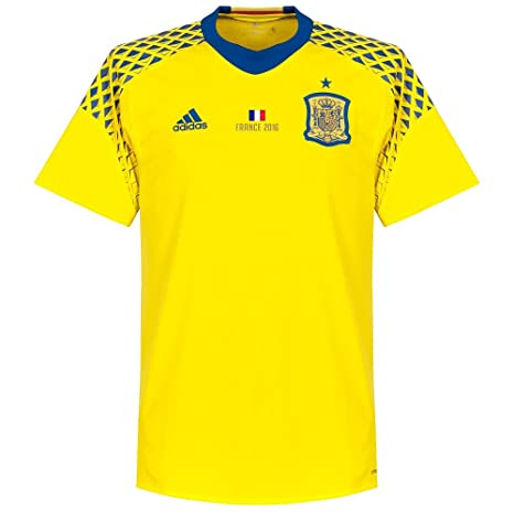 cheaper 0d764 086b5 Amazon.com : adidas Spain Away Goalkeeper Jersey 2016/2017 + ...