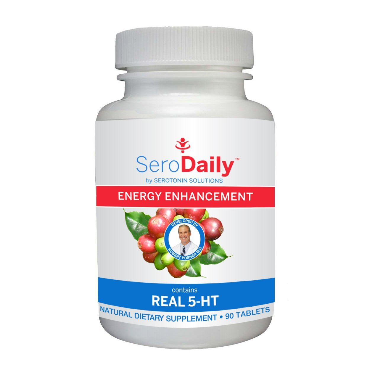 Dr. Posner's 5-HT Serotonin Daily Multivitamin - Boost Energy, Accelerate Mood, and Get Your Daily Dose of Multivitamins, Best Multivitamin for Men and Women (90 Caplets)