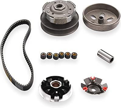 fit for GY6 125cc And 150cc 4-Stroke Engine Scooter ATV Taotao Roketa Sunl CLEO Gy6 150cc high performance clutch set,include clutch Assembly and Variator Assembly with 842 belt