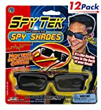 JaRu Spy Glasses by 2GoodShop | Spy Gear Pretend Play Secret Agent Reflective Shades for Kids Pack of 12 | Item #1498