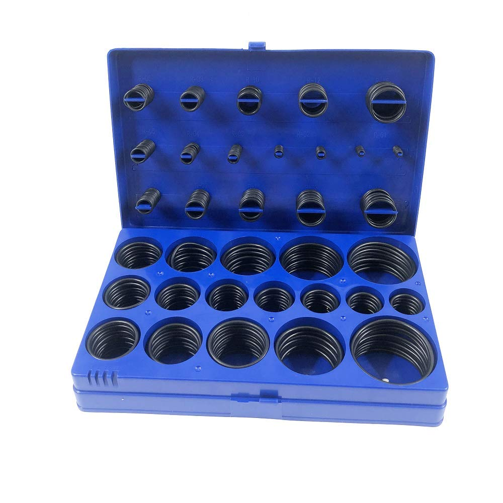 Automotive and Faucet Repair 407-Piece Buna-N 70A for Plumbing SAE O Ring Kit Inch Orings Assortment Kit 407pcs