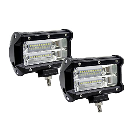 """5"""" 72W Faro Trabajo Led Focos de Coche LED Potentes Super PDR Resistente al agua"""