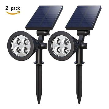 Amazon.com: Kariwell - 2 luces solares de césped para jardín ...