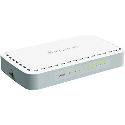 Netgear GS608-400PES - Switch de red con 8 puertos autosensing 10/100/1000 Base-T