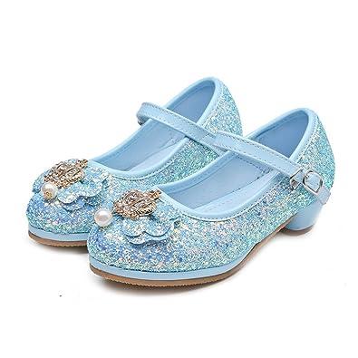 d8cb091cb1d5d Amazon.com   T-JULY Girls Glitter Bowknot Mary Jane Shoes Ballet ...