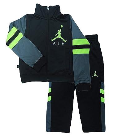 2d0f5a8ac6f Air Jordan Jumpman 2 Piece Toddler Boys Outfit Set (2T, Black Volt ...