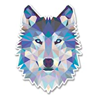 2 x 10cm/100mm Abstract Husky Wolf Vinyl Sticker Decal Laptop Travel Luggage Car iPad Sign Fun #6214