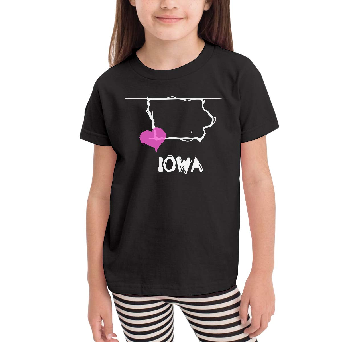 Childrens Love Iowa State Cotton Short Sleeve Tee Tops Size 2-6