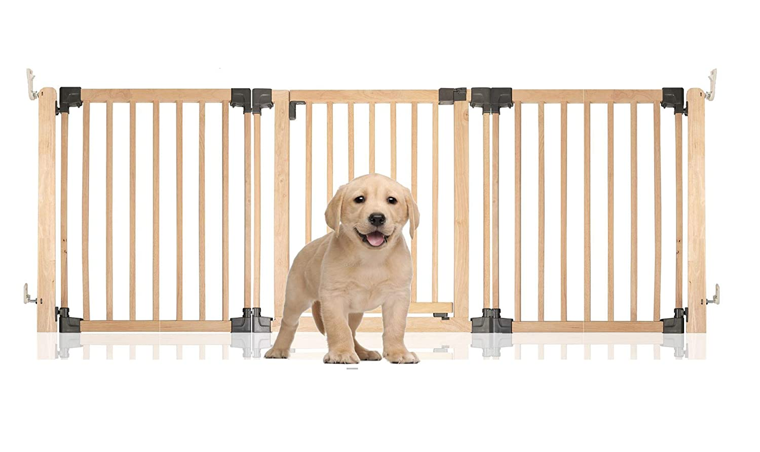Up to 216.5CM Safetots Wooden Multi Panel Pet Barrier (Up to 216.5CM)