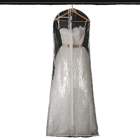 Kinandpri Impermeable Transparente Vestido de Novia Vestido ...