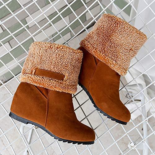 Viernes Negro JiaMeng Botines Calentar Pelaje Botas De Nieve Atada Zapatos Toe Wedges Shoes Keep Warm Slip-On Botas de Nieve de Felpa: Amazon.es: Ropa y ...