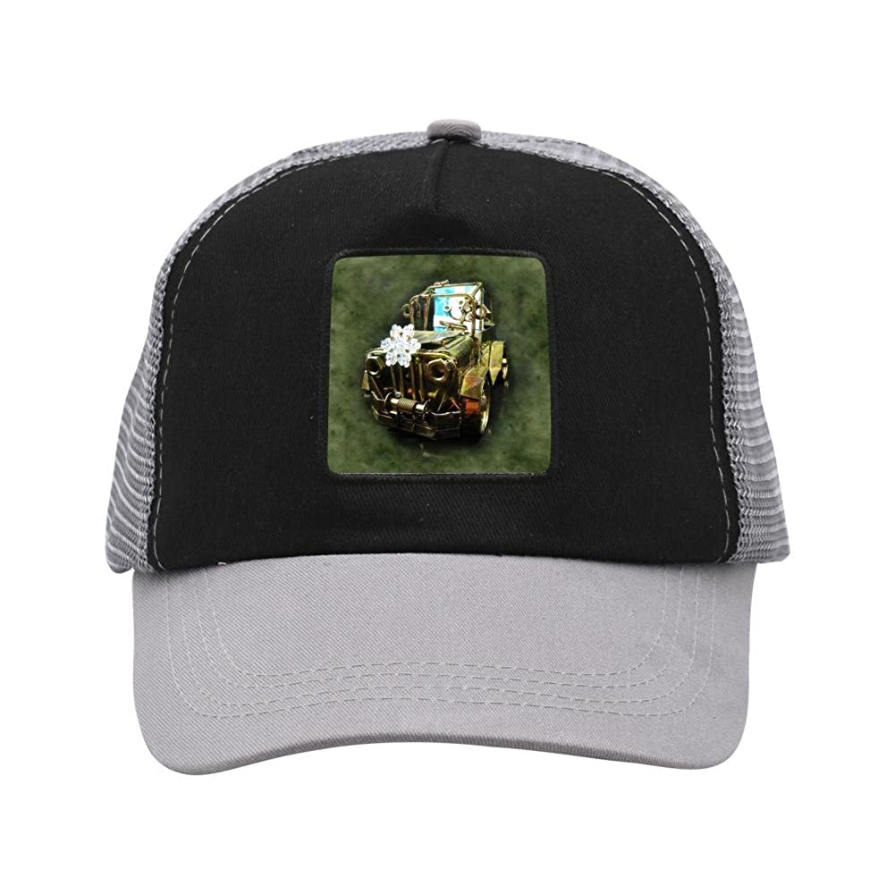 Nichildshoes hat Adult Mesh Cap Hat Adjustable for Men Women Unisex,Print Vintage Car