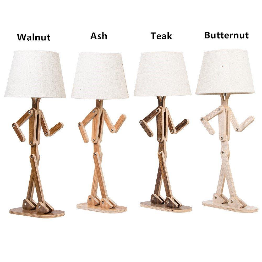 Leselampe Wohnzimmer Style   Hroome Kreative Modern Diy Verstellbare Holz Schreibtischlampe