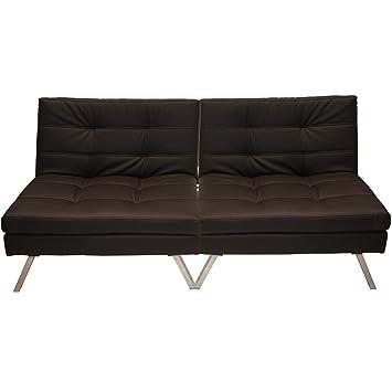Zojoben Sofa Cama Doble Polipiel marrón: Amazon.es: Hogar