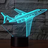 Creatively 3D Plane Lights LED Airplane Night