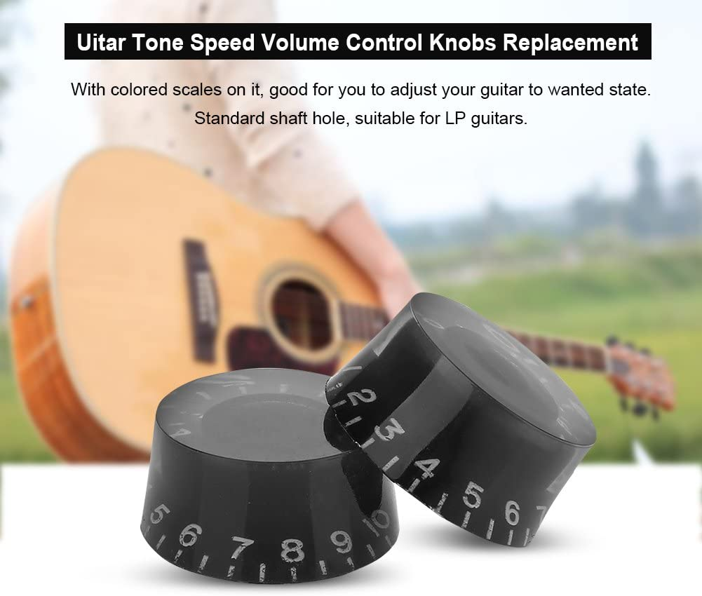 Guitar Tone Speed Volume Control Knobs Replacement Accessory for Les Paul LP Electric Guitar Dilwe 4pcs Electric Guitar Knobs