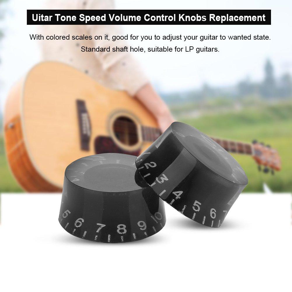 4 Piezas Perillas de Control de Volumen de Velocidad de Tono de Guitarra Les Paul Drfeify Perillas de Guitarras El/éctricas