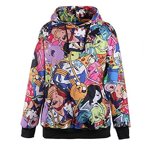 Sexy&Stylish Adventure Time Hoodies Cartoon Colorful Sweatshirts by Sexy&Stylish