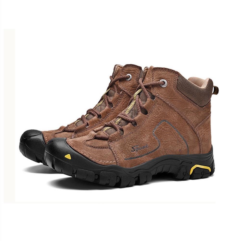 Brandon Christie Herren Schwacher Anstieg Stiefel Wasserdicht und und und Rutschfest Leder Schnüren Warm halten Leicht Dauerhaft Schuhe zum Winter Draussen Reisen Trekking Wandern Klettern fd84cf