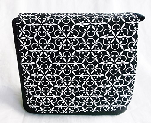 Magic Black and White Messenger Bag By Gifts and Beads by Gifts and Beads