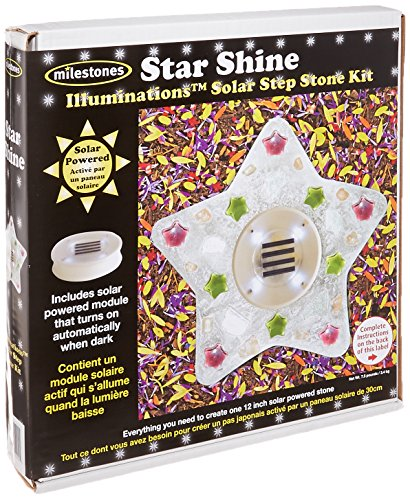 Midwest Products Illuminations Solar Stepping Stone Kit, Star Shine (Stones Stepping Solar Powered Glow)