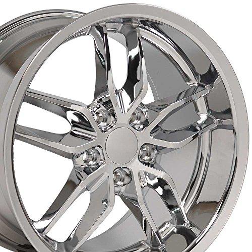 (OE Wheels 18 Inch Fits Chevy Camaro Corvette Pontiac Firebird Deep Dish Stingray Style CV18A Chrome 18x10.5 Rim Hollander)