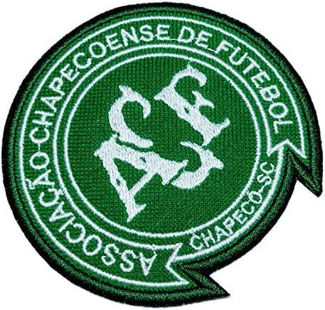 tsc006 chapecoense Chape Brasil escudo de Brasil fútbol fútbol parche bordado hierro o coser 3,9 x 3,5 x 0,1 cm