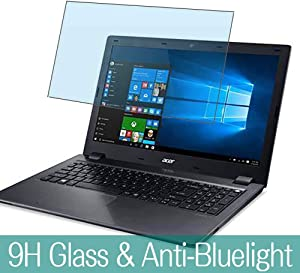 """Synvy Anti Blue Light Tempered Glass Screen Protector for ACER Aspire V5-591 / V5-591G 15.6"""" Visible Area 9H Protective Screen Film Protectors (Not Full Coverage)"""