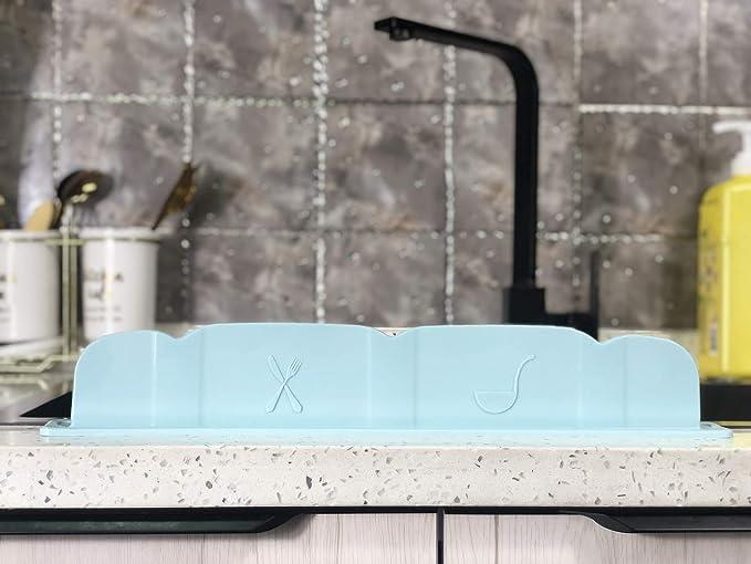 Water Splash Guard Baffle Board Sucker Wash Basin Sink Board Home Kitchen Tool