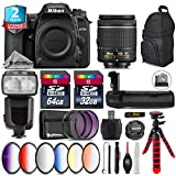Holiday Saving Bundle for D7500 DSLR Camera + 35mm 1.8G DX Lens + AF-P 18-55mm + 500mm Telephoto Lens + 6PC Graduated Color Filter + 2yr Extended Warranty + Backup Battery - International Version