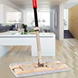 "Elvoes Microfiber Flat Mop Professional 360 Degree Hardwood Floor Mop with 50""- 70"" Adjustable Handle, Wet/Dry Mop with Scraper for Bathroom, Kitchen, Tile and Hardwood Floor Cleaning"