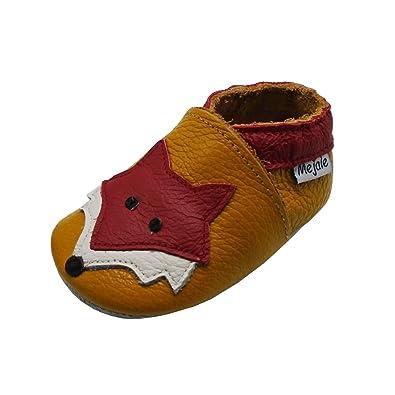 a3dd4440e9f0e Mejale Chaussons Cuir Souple Chaussures Cuir Souple Chaussons Enfants  Pantoufles Chaussures Premiers Pas Dessin animé Renard