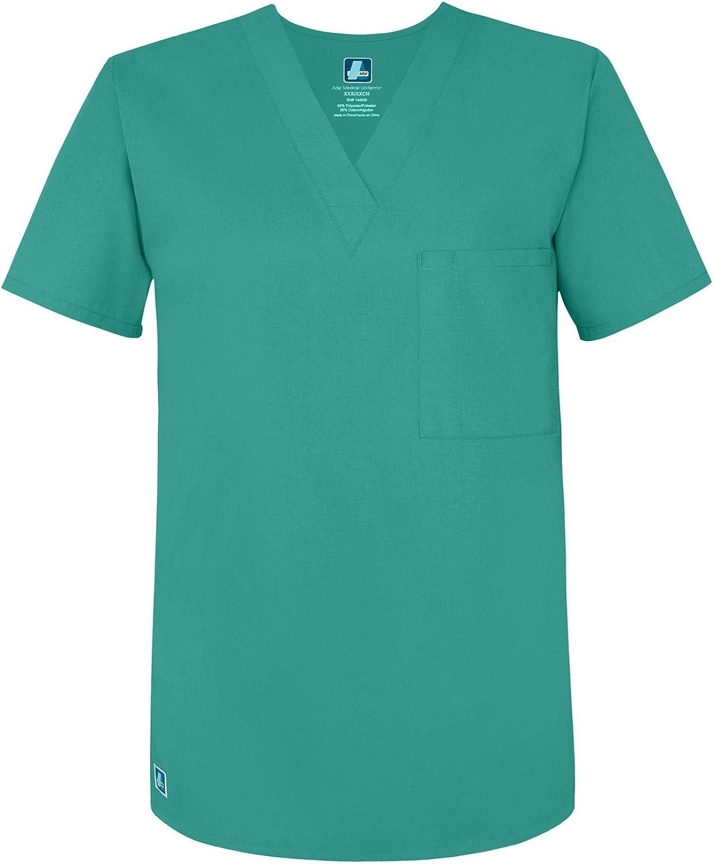 Adar Uniforms Uniformes M/édicaux Unisexe pour Homme Col V Tunique 1 Poche Haut dinfirmier Blouse dH/ôpital