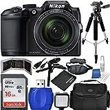 Nikon COOLPIX B500 Digital Camera (Black) Bundle with Accessory Kit (13 Items)