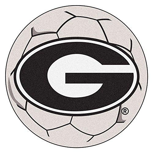Soccer Georgia Rug Ball - University of Georgia Soccer Ball Rug