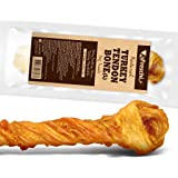 AFreschi Turkey Tendon for Dogs, Premium All-Natural, Hypoallergenic, Long-Lasting Dog Chew Treat, Easy to Digest, Alternative to Rawhide, Ingredient Sourced from USA, (Large)
