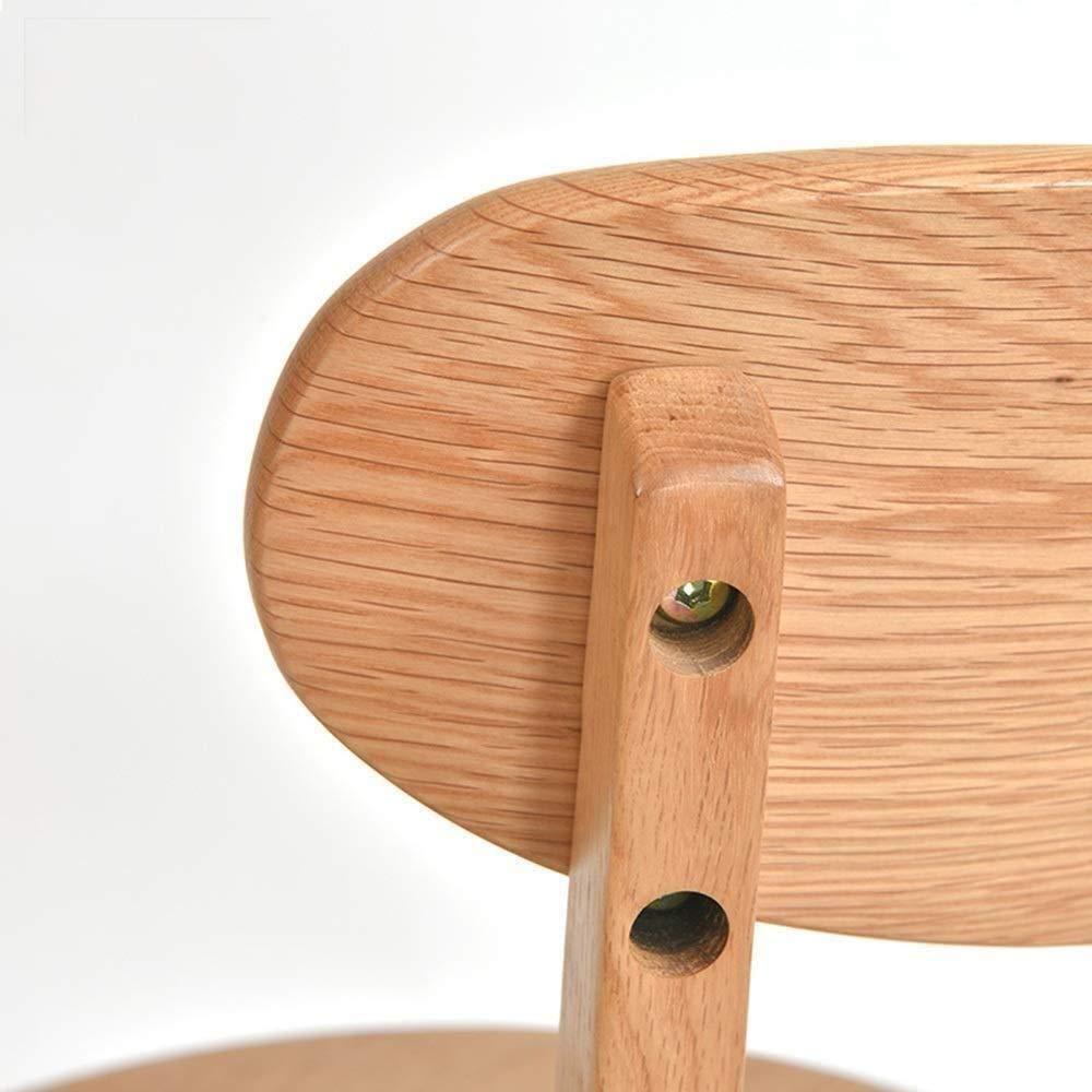THBEIBEI Matstol datorstolar vuxenstol enkel skrivbordsstol för kontor lounge hem dator stol bärande vikt 120 kg 44,5 x 47,5 x 79 cm (färg: Valnötfärg) Träfärg