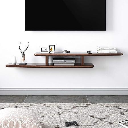 Estante Flotante Mueble de TV Moderno Minimalista montado en la Pared Soporte de TV de Madera