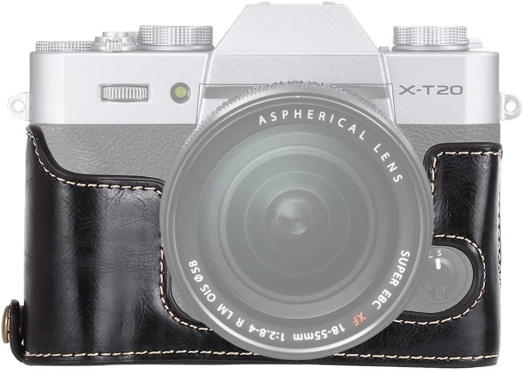 Black YANTAIANJANE Camera Accessories 1//4 inch Thread PU Leather Camera Half Case Base for FUJIFILM X-T10 Color : Black X-T20