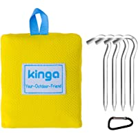 KINGA Pocket Camping Blanket Lightweight Water Repellent for Picnic, Beach, Climbing Large Size Suitable for Outdoors Activities