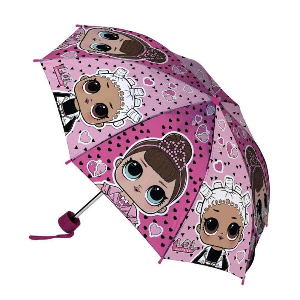 LOL Rock the Beat Children/'s Folding Pink Umbrella for Girls