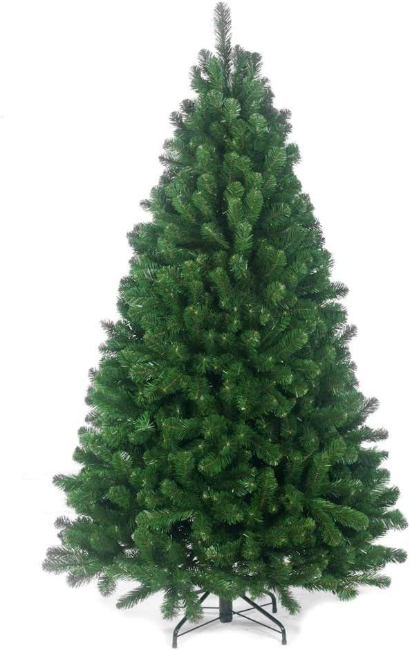 BudgetLine 7ft Large Colorado Pine Look Artificial Christmas Tree Tips with Metal Stand Beautiful Xmas Tree GREEN & BLACK (Green): Amazon.co.uk: Kitchen & Home