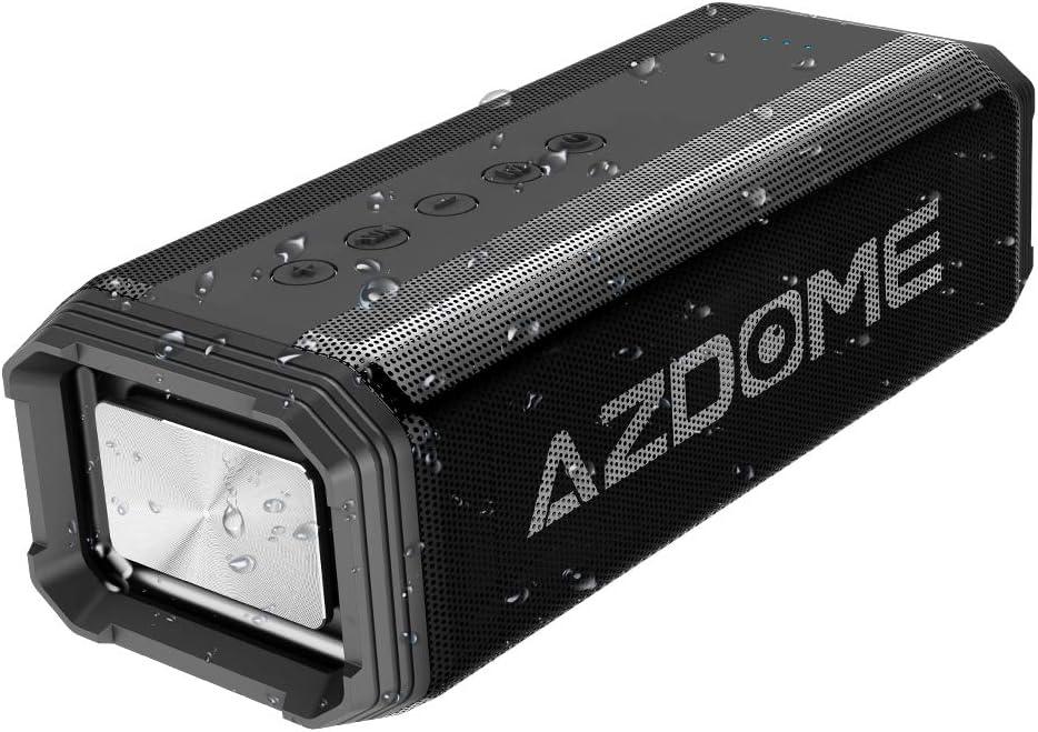 Azdome Altavoz Bluetooth 20W Waterproof IPX7 [15 Horas 5200mAh] Altavoz inalámbrico con [DSP 3D Surround Sound] Bluetooth 4.2 Dual-Driver, micrófono, Llamada Manos Libres