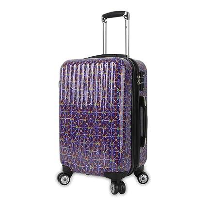 7f1f08f16a79 Amazon.com : DH Multi Color Geometric Theme Luggage Hardtop Hardside ...