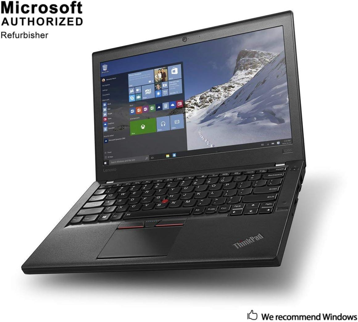 Lenovo ThinkPad X260 6th Gen 12.5 Inch Laptop , Intel Core i5 6300U up to 3.0GHz, 8G DDR4, 500G, WiFi, BT 4.0, HDMI, Mini DP, USB 3.0, Win 10 64 Bit-Multi-Language, EN / ES / FR(CI5)(Renewed)