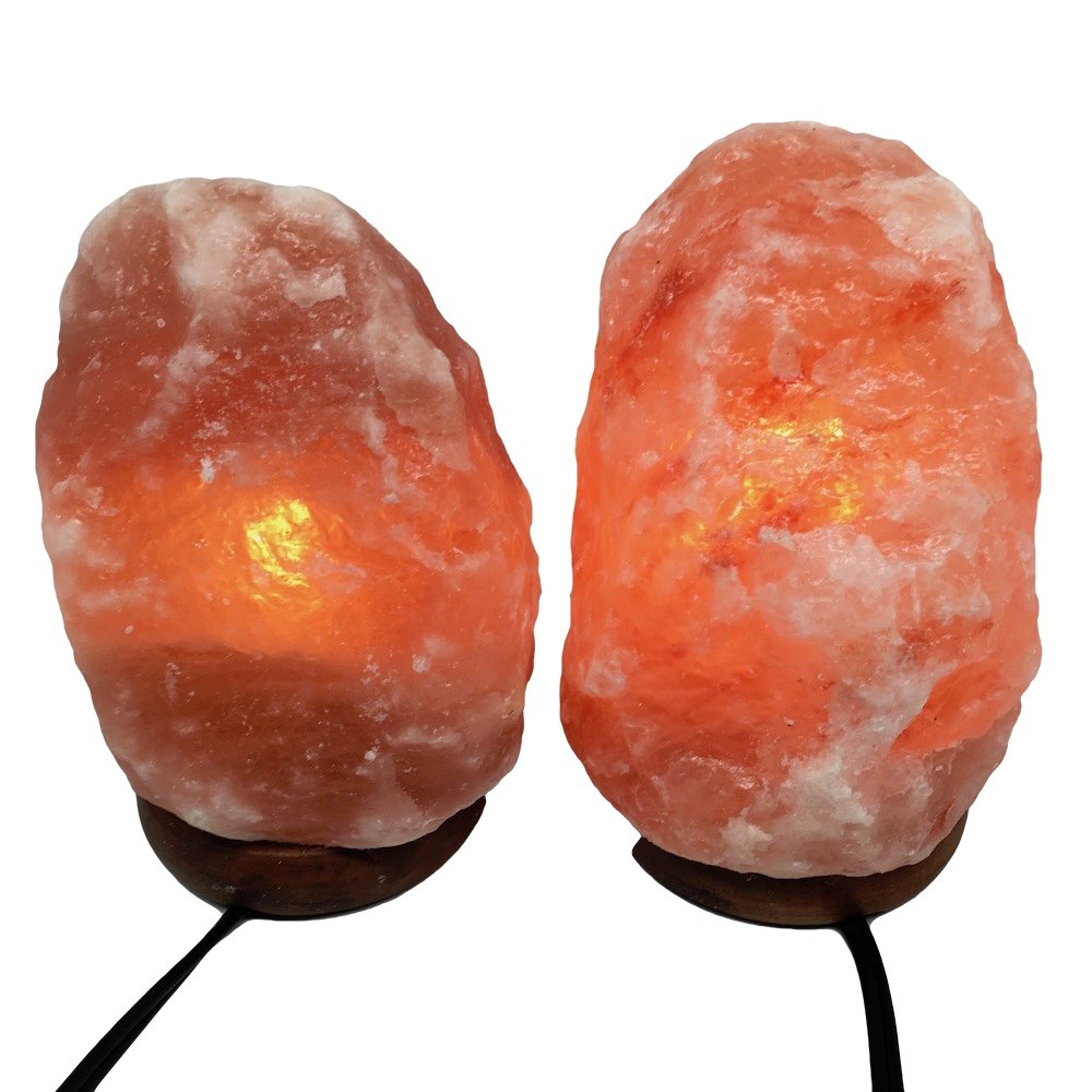 2x Himalaya Natural Handcraft Rough Raw Crystal Salt Lamp 6.75''-7.25''Tall, X090, Exact Item will be Delivered