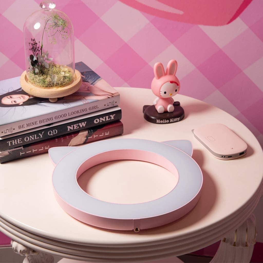 Creative Cute Pet Shape Live Light Mobile Video Camera Light Beauty Fill Light Color : Pink SUYIDAN Ring Light Cute Ring Lights Brightness Adjustable